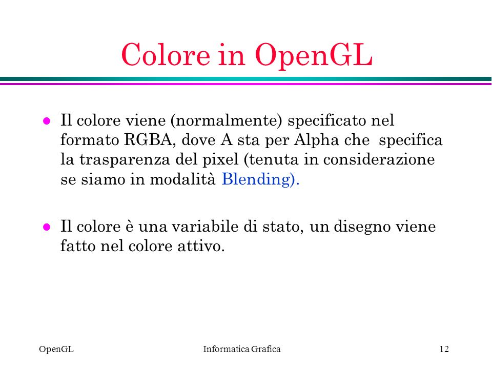 Colore in OpenGL