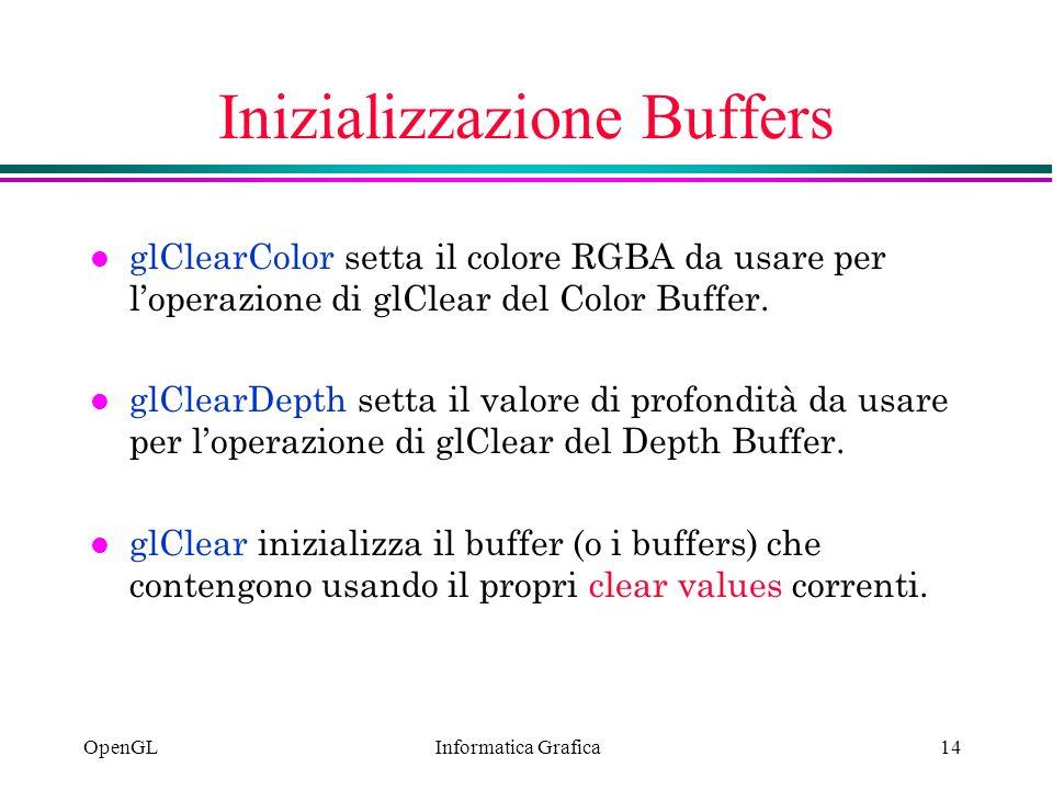 Inizializzazione Buffers
