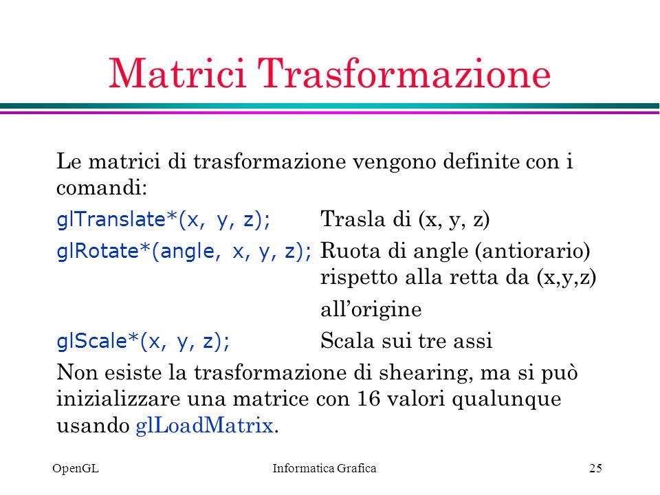 Matrici Trasformazione