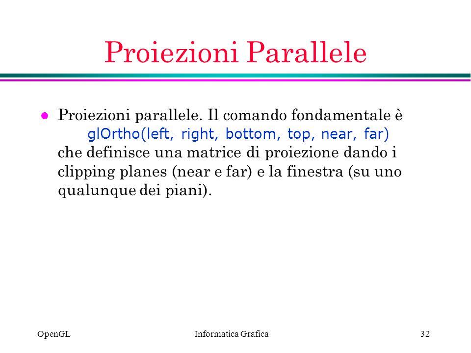 Proiezioni Parallele