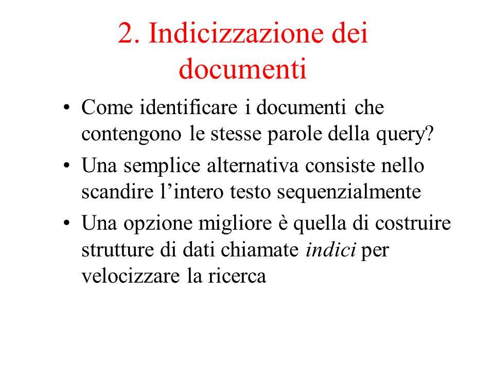 2. Indicizzazione dei documenti