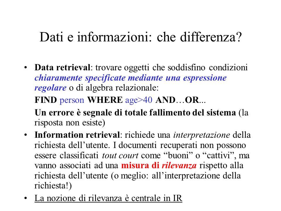 Dati e informazioni: che differenza