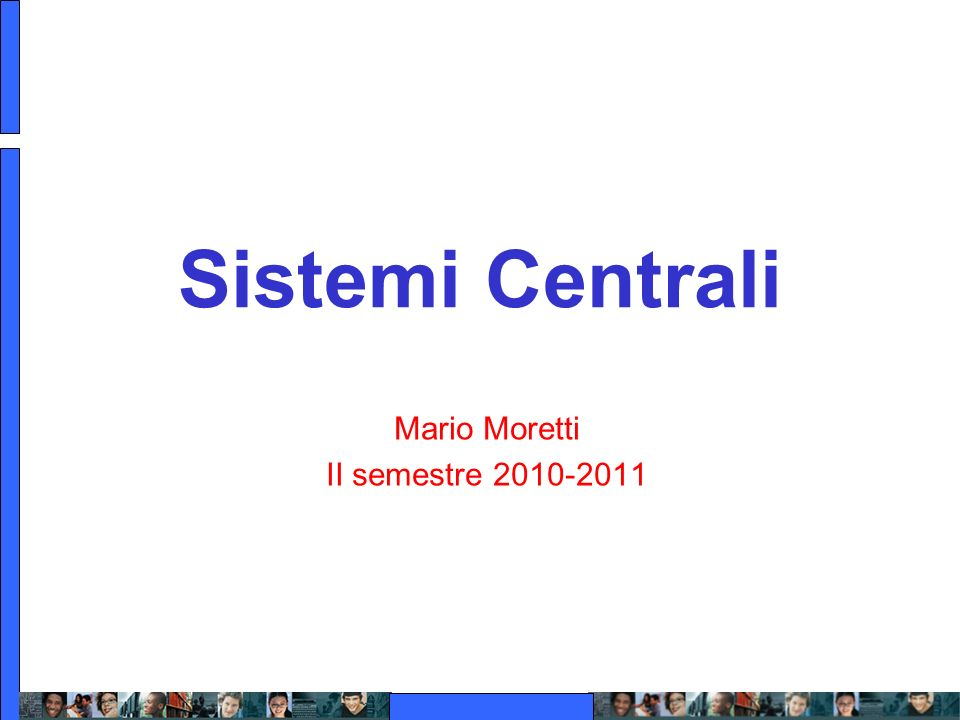 Mario Moretti II semestre 2010-2011