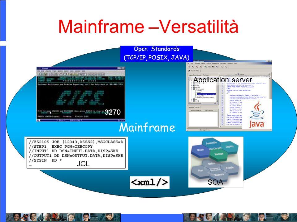 Mainframe –Versatilità