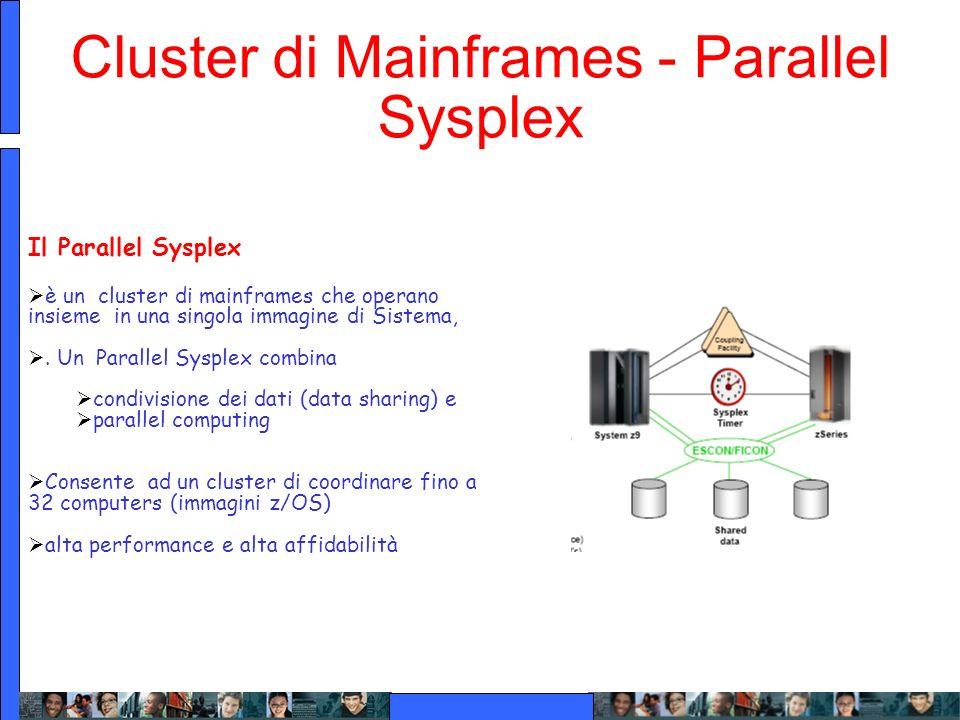 Cluster di Mainframes - Parallel Sysplex