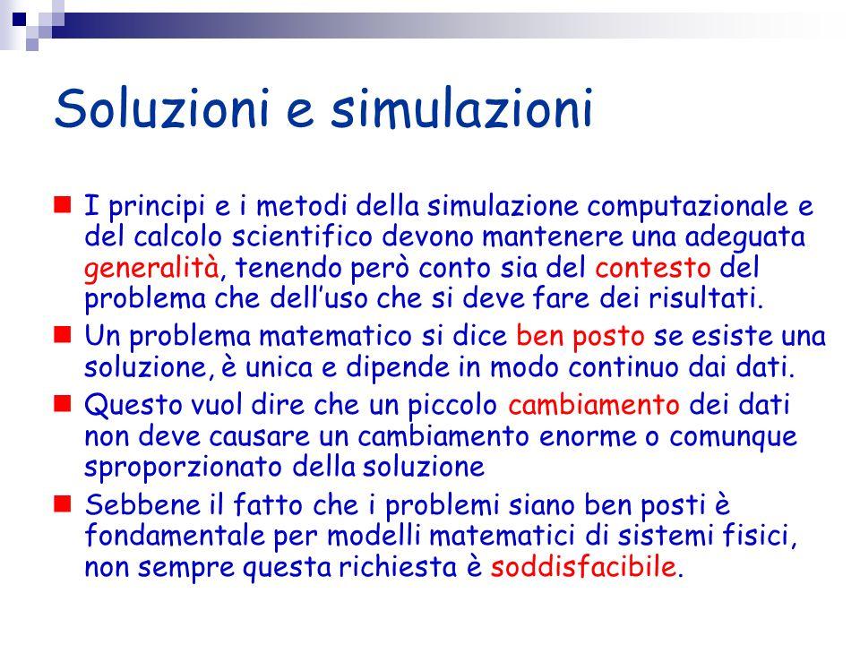Soluzioni e simulazioni