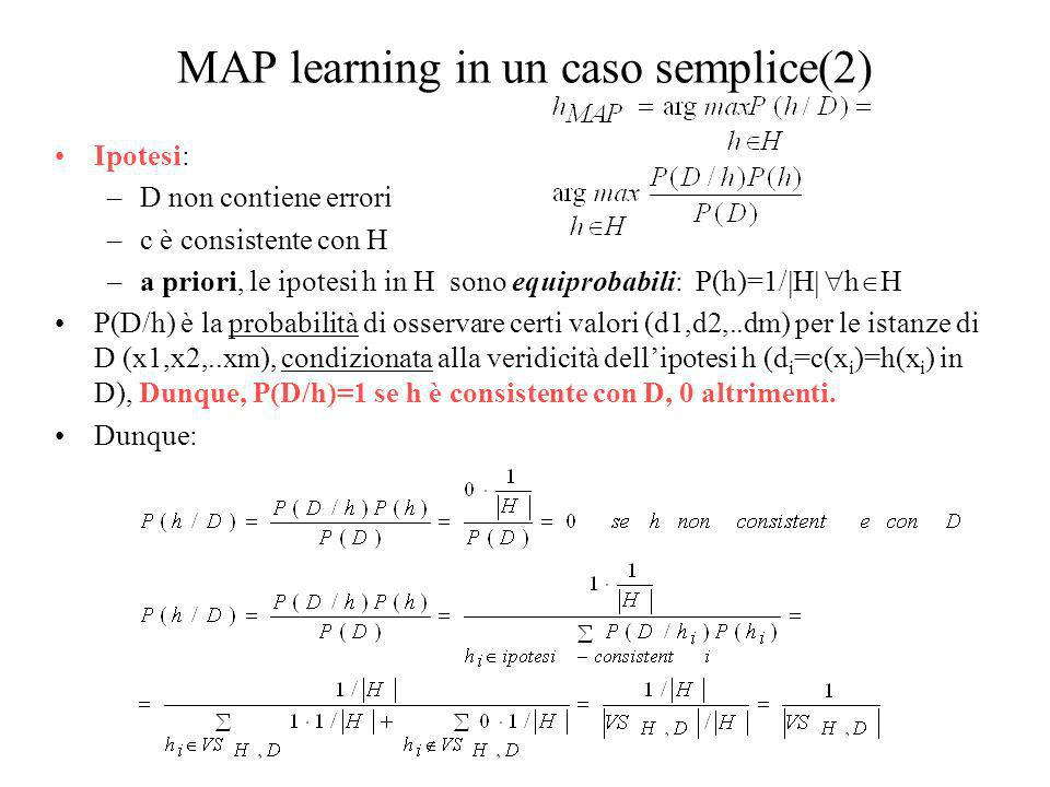 MAP learning in un caso semplice(2)