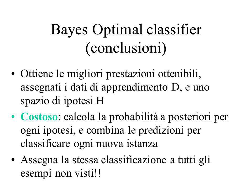 Bayes Optimal classifier (conclusioni)