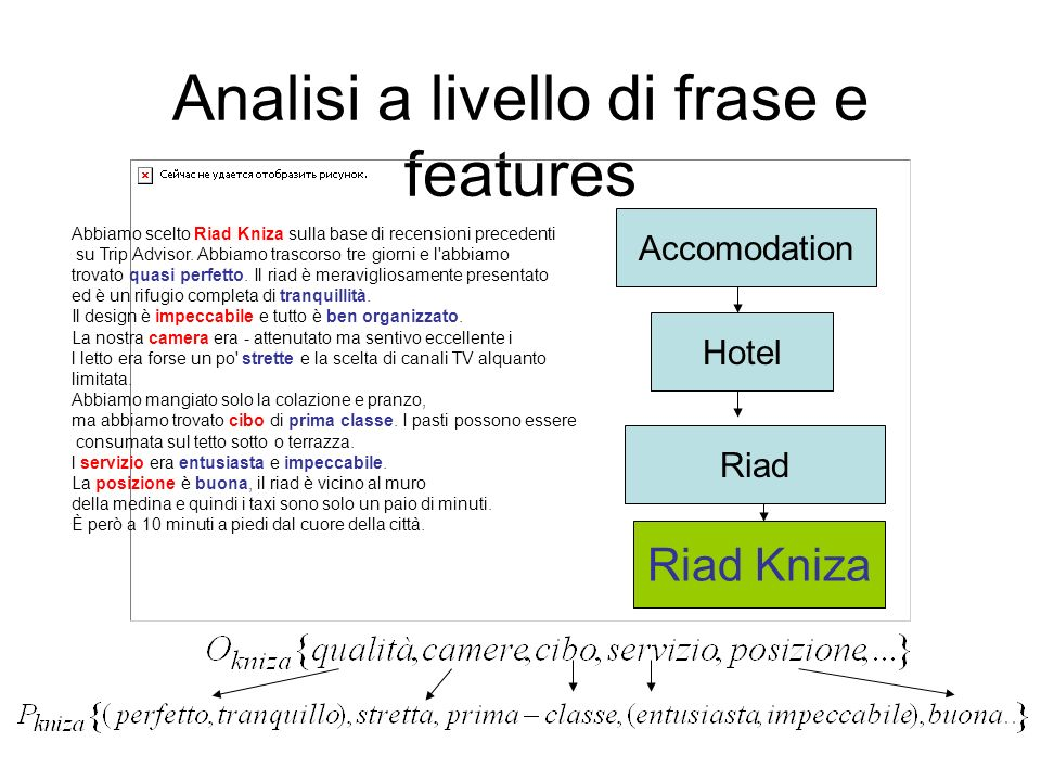Analisi a livello di frase e features