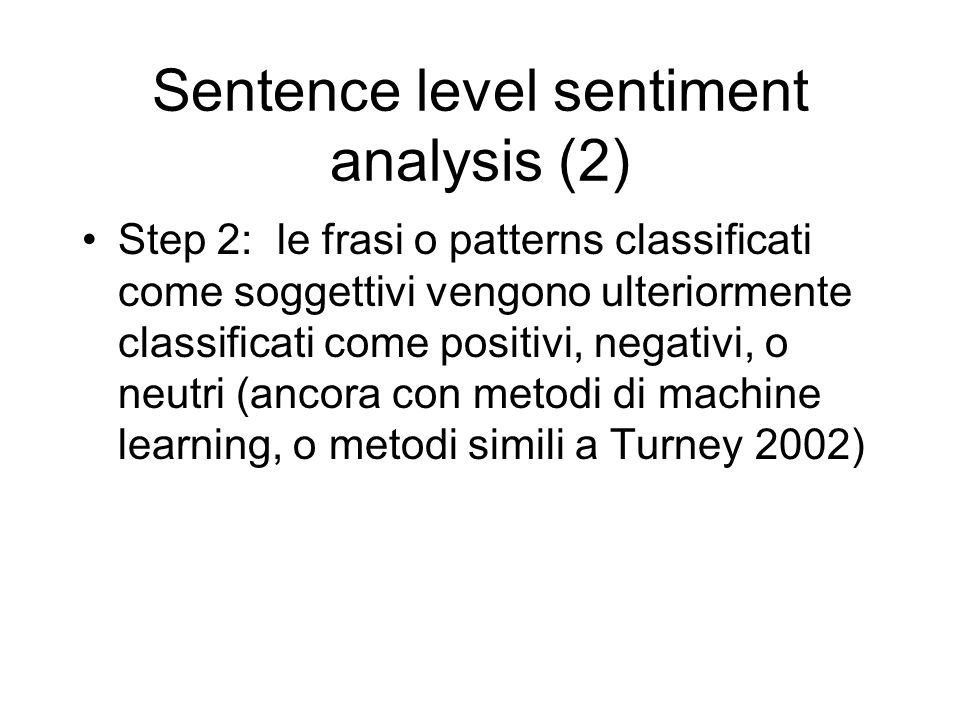 Sentence level sentiment analysis (2)