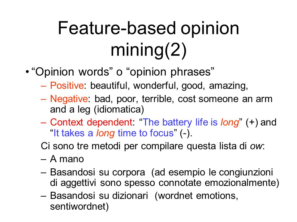 Feature-based opinion mining(2)