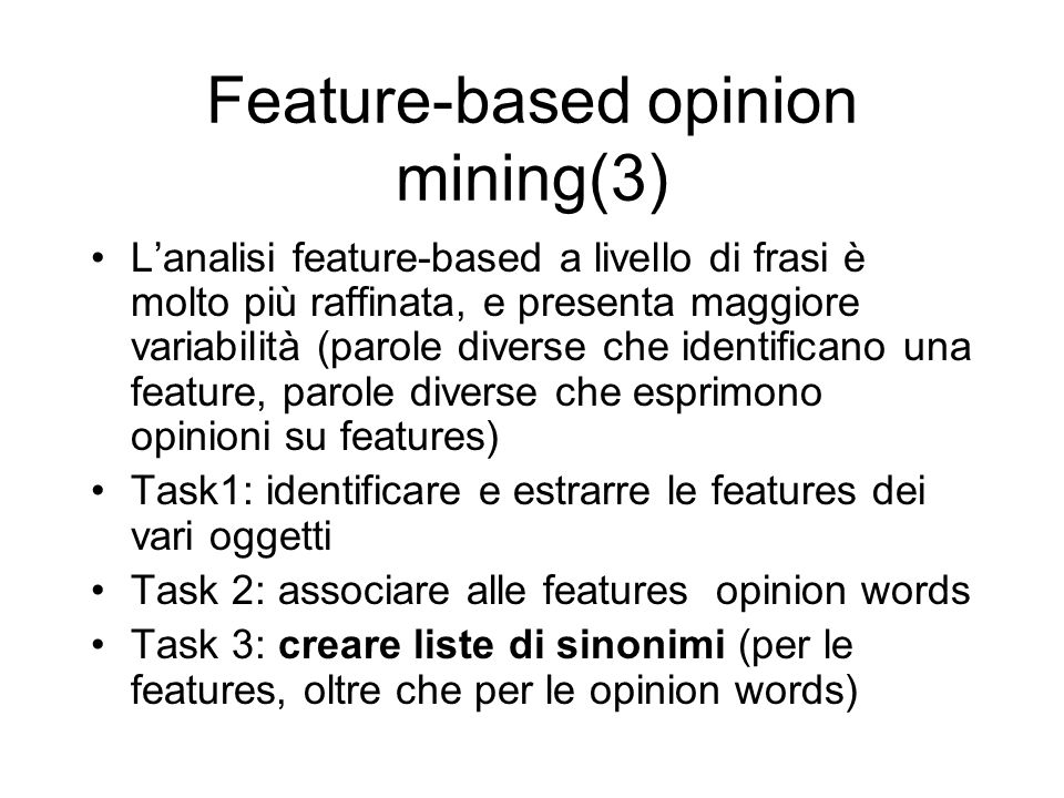 Feature-based opinion mining(3)