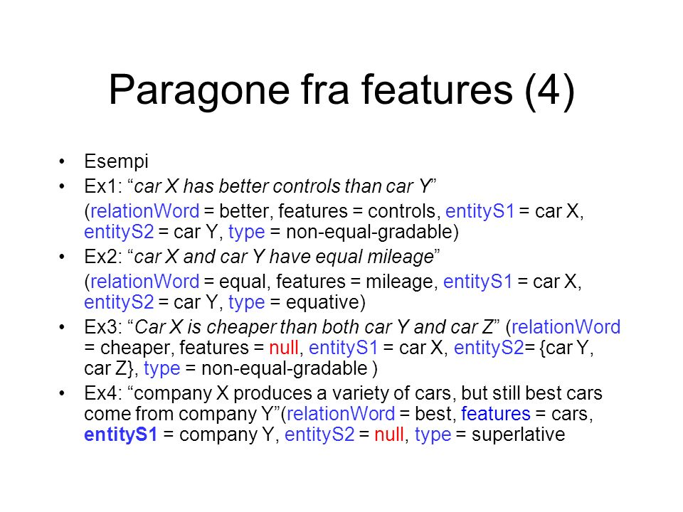 Paragone fra features (4)
