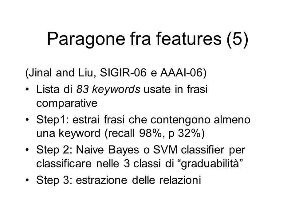 Paragone fra features (5)