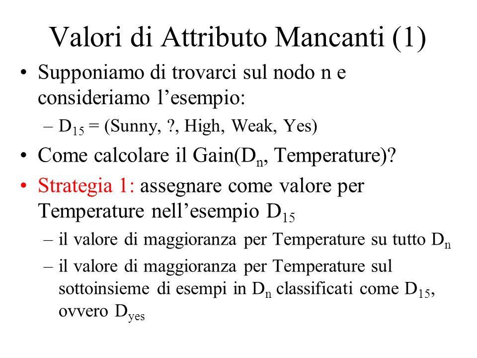 Valori di Attributo Mancanti (1)