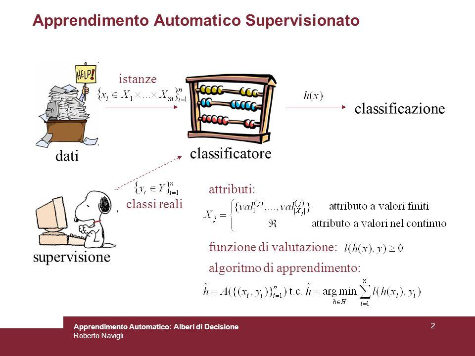 Apprendimento Automatico Supervisionato