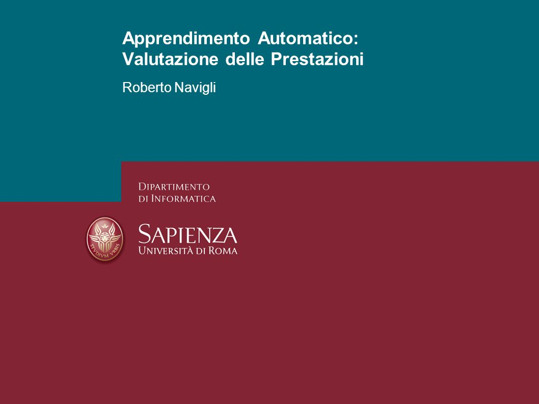 Apprendimento Automatico: Valutazione delle Prestazioni