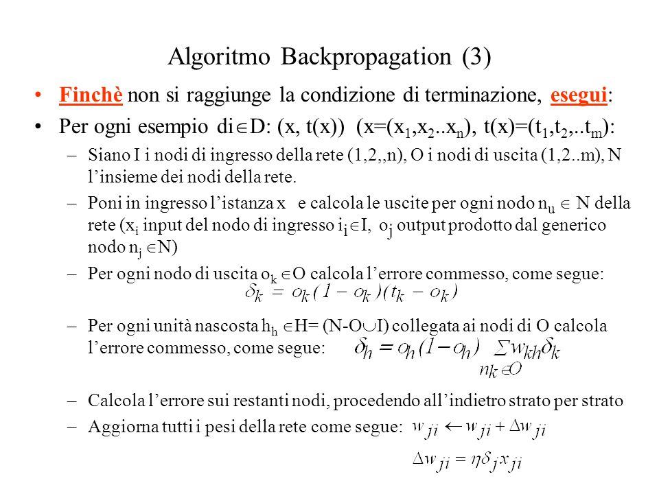 Algoritmo Backpropagation (3)