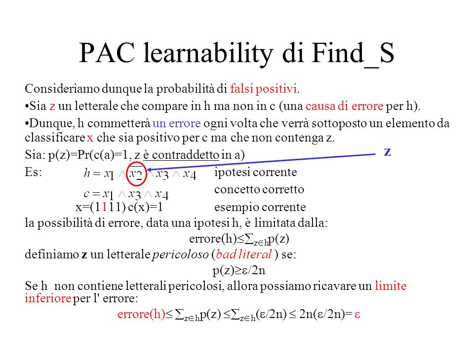 PAC learnability di Find_S