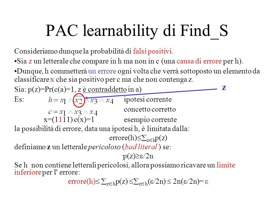 PAC learnability di Find_S