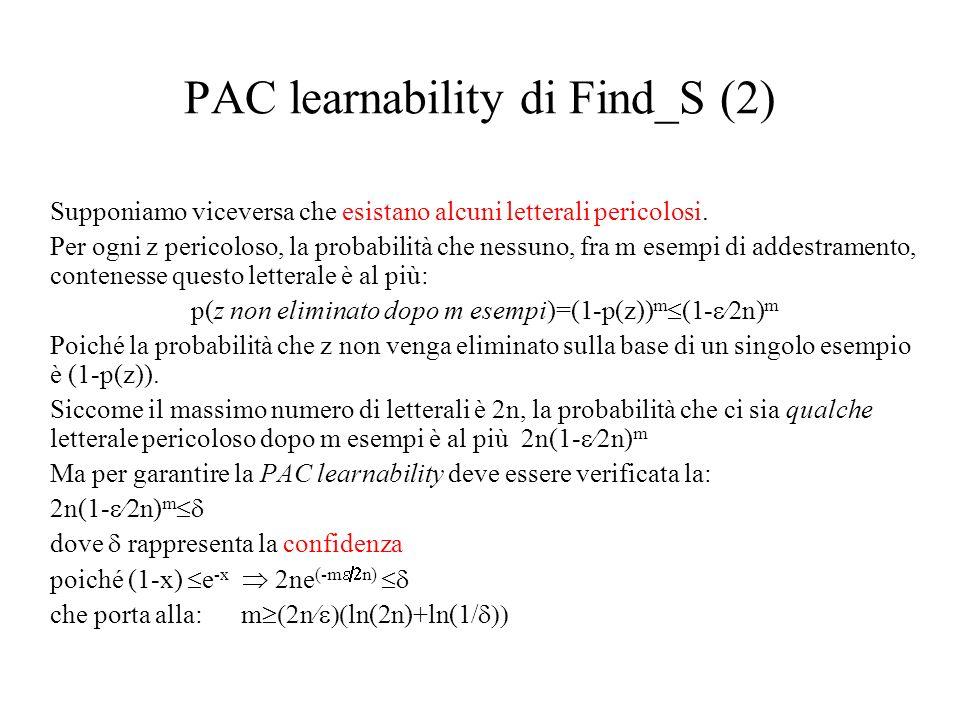 PAC learnability di Find_S (2)
