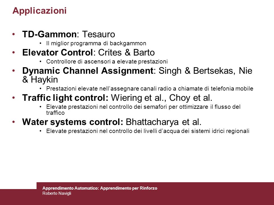 Elevator Control: Crites & Barto