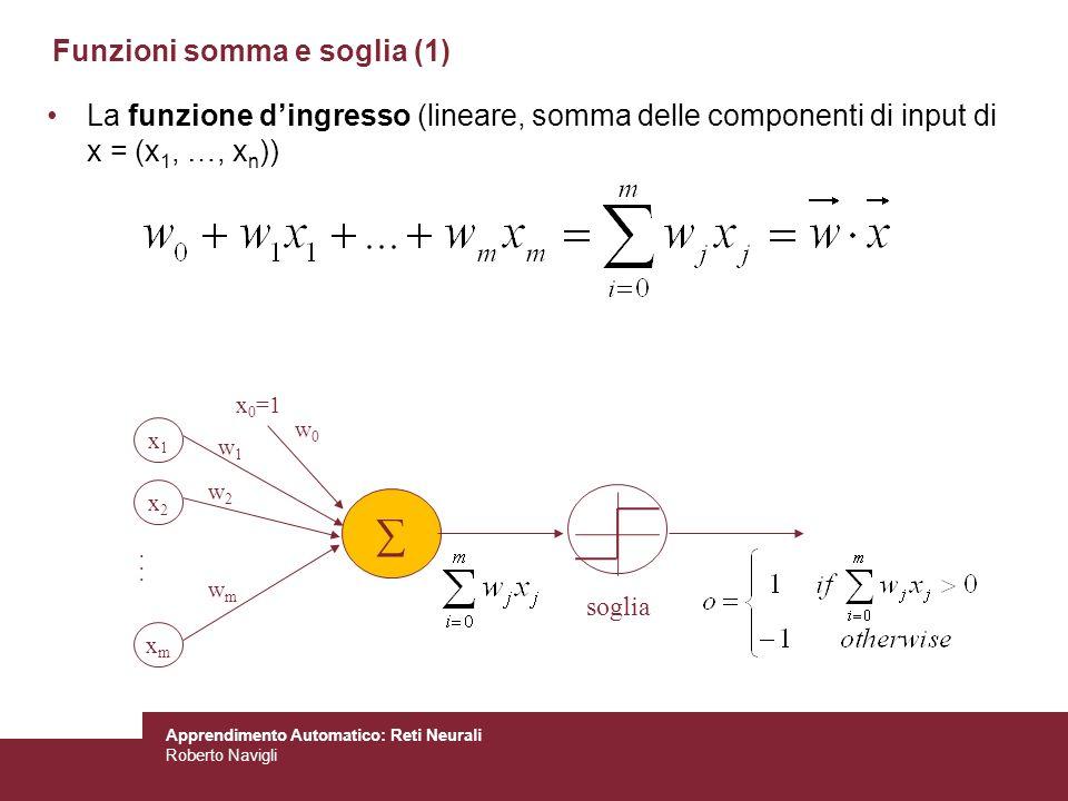 Funzioni somma e soglia (1)