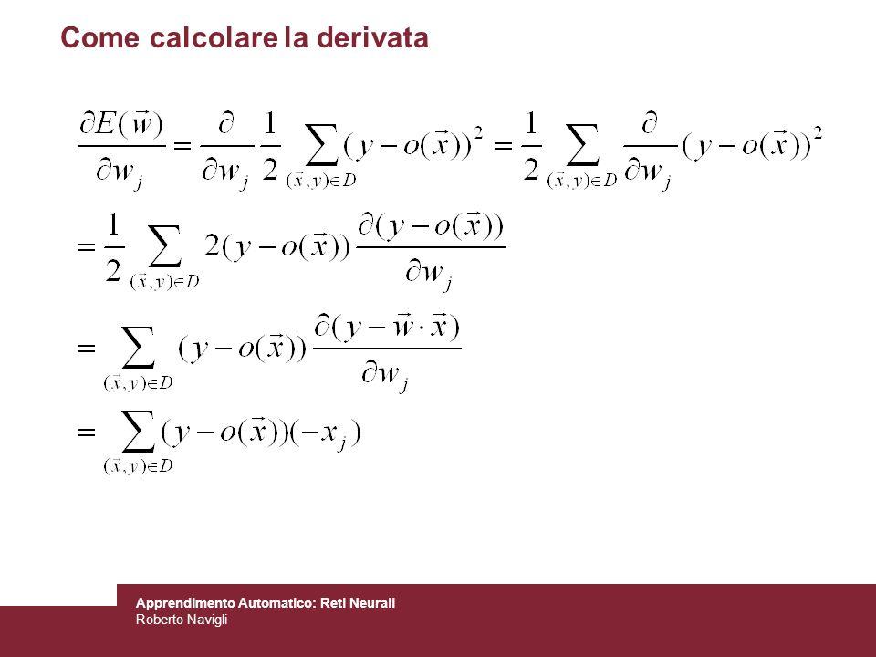 Come calcolare la derivata