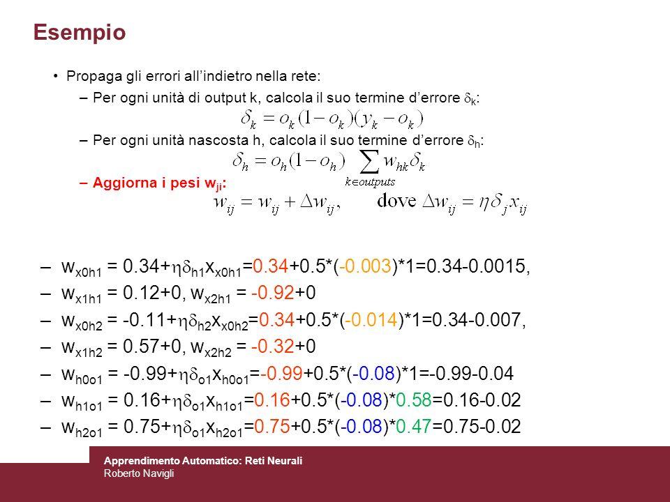 Esempio wx0h1 = 0.34+h1xx0h1=0.34+0.5*(-0.003)*1=0.34-0.0015,