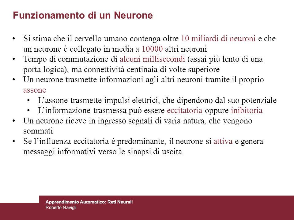 Funzionamento di un Neurone