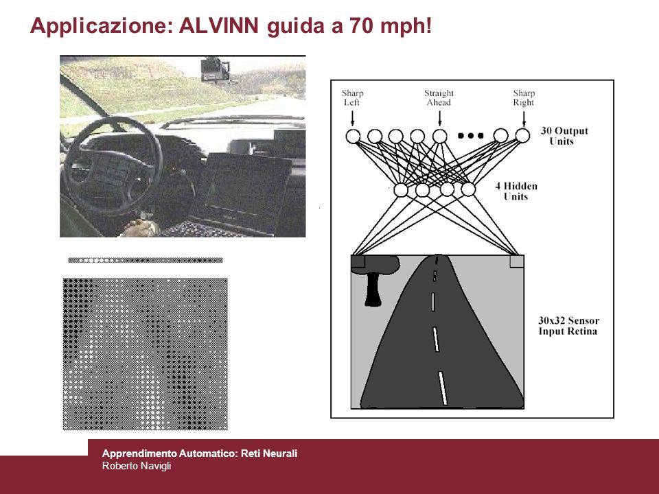 Applicazione: ALVINN guida a 70 mph!