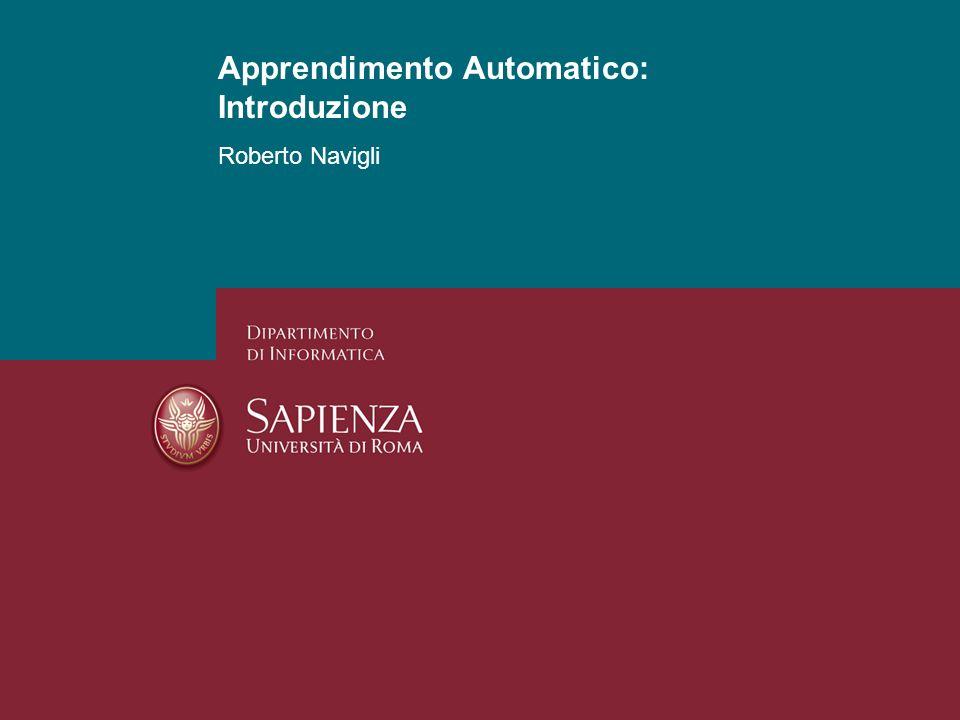 Apprendimento Automatico: Introduzione
