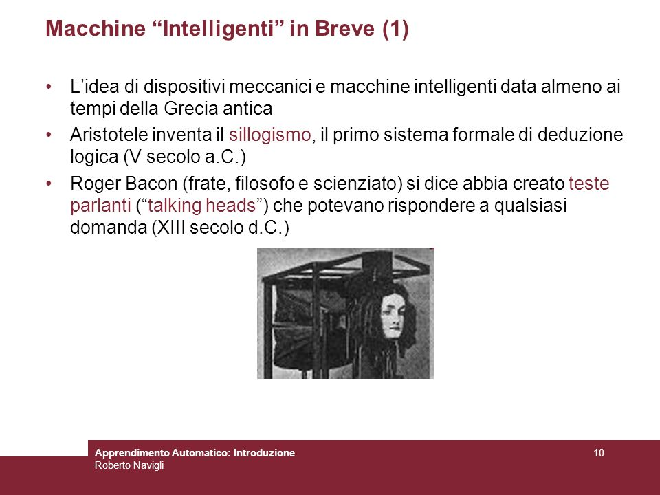 Macchine Intelligenti in Breve (1)