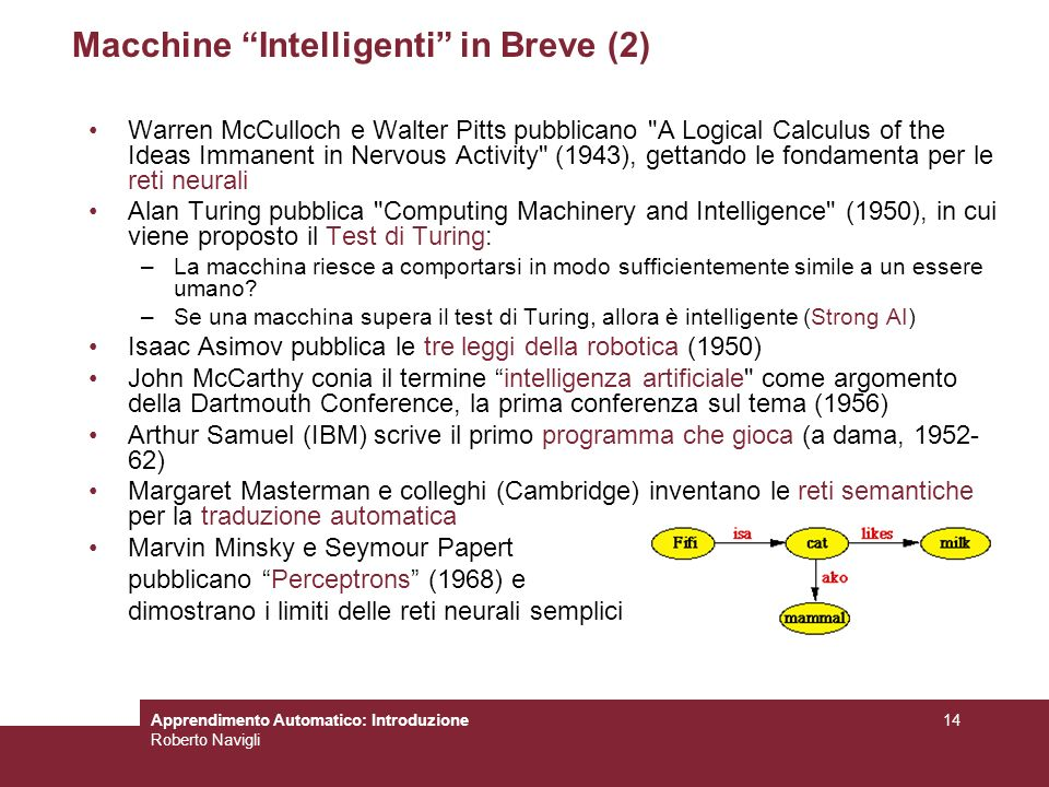 Macchine Intelligenti in Breve (2)