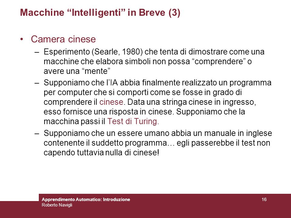 Macchine Intelligenti in Breve (3)