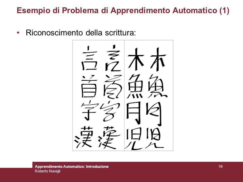 Esempio di Problema di Apprendimento Automatico (1)