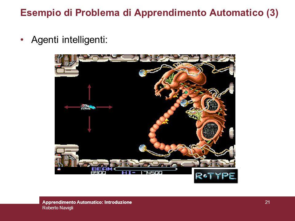 Esempio di Problema di Apprendimento Automatico (3)