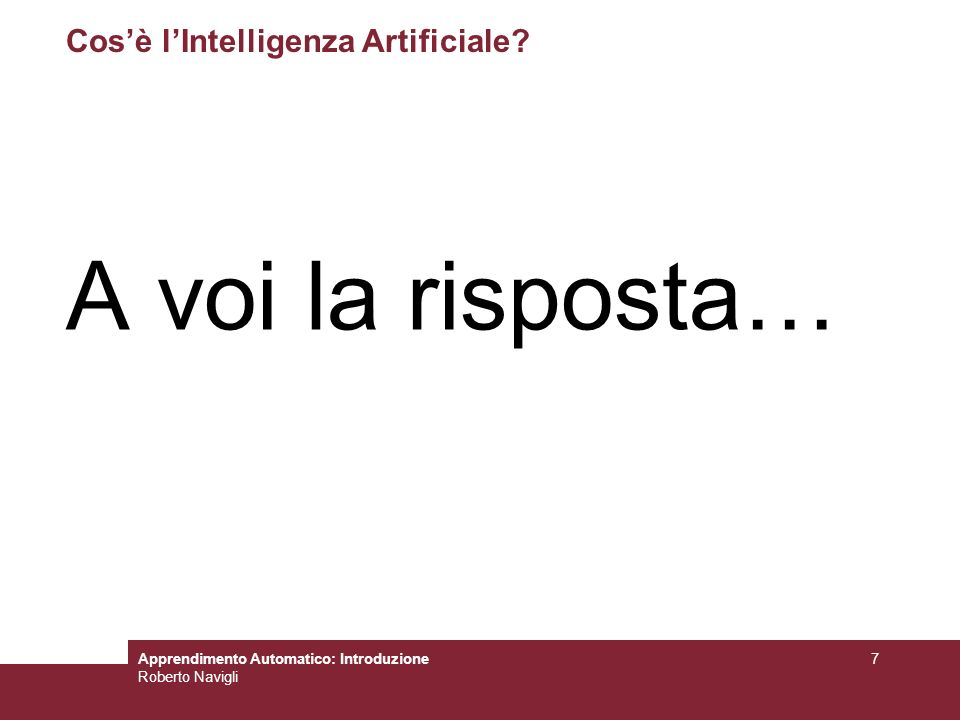 Cos'è l'Intelligenza Artificiale