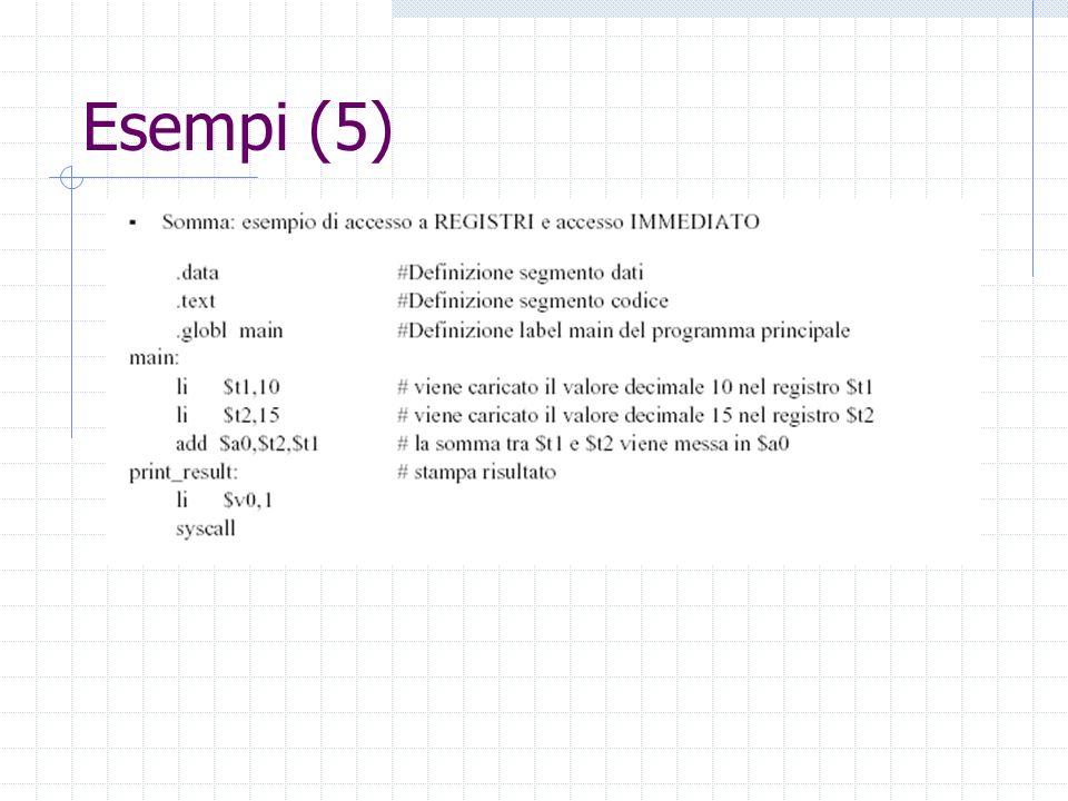 Esempi (5)