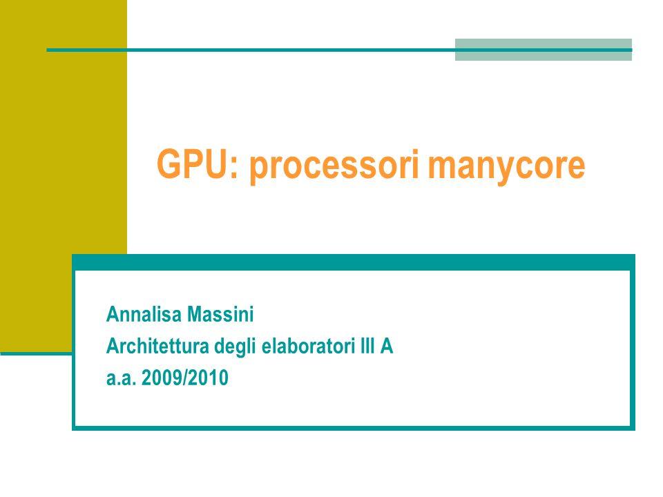 GPU: processori manycore