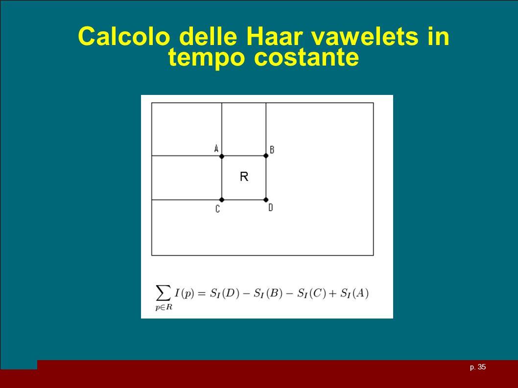 Calcolo delle Haar vawelets in tempo costante