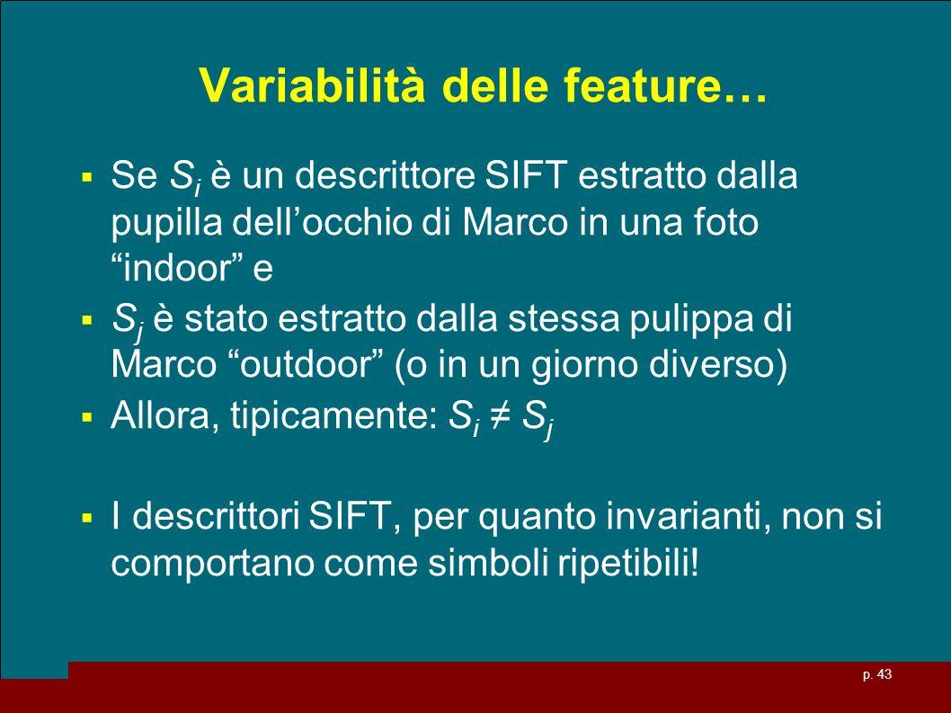 Variabilità delle feature…