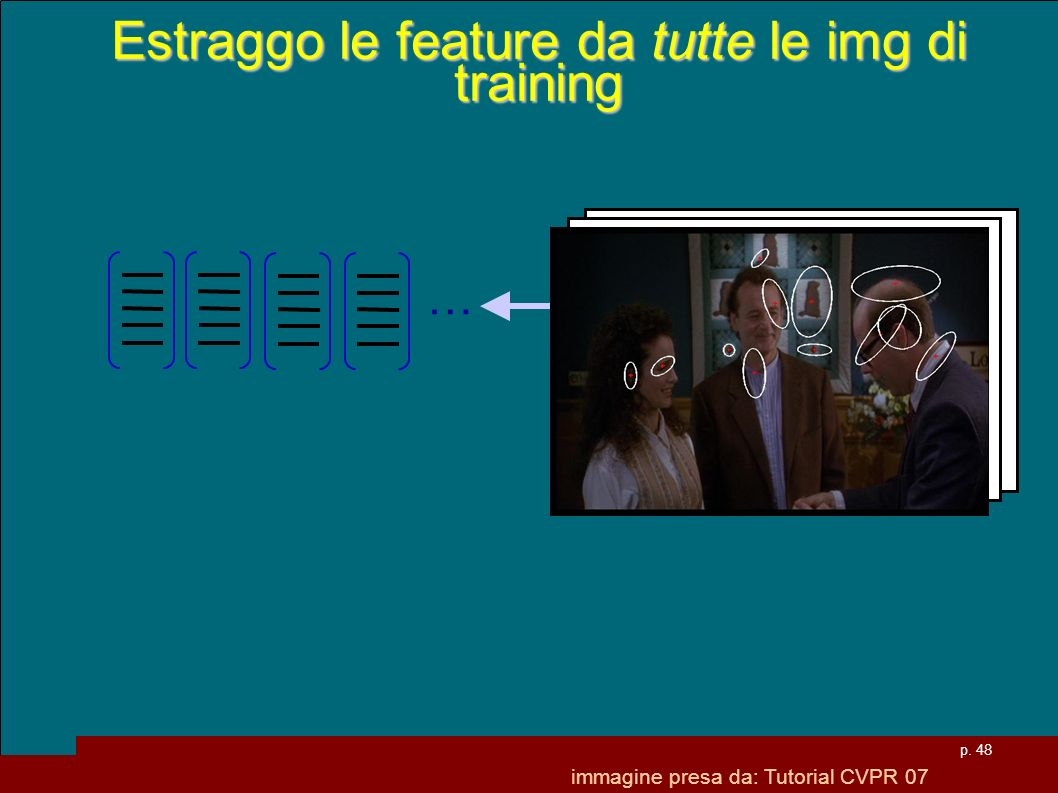 Estraggo le feature da tutte le img di training