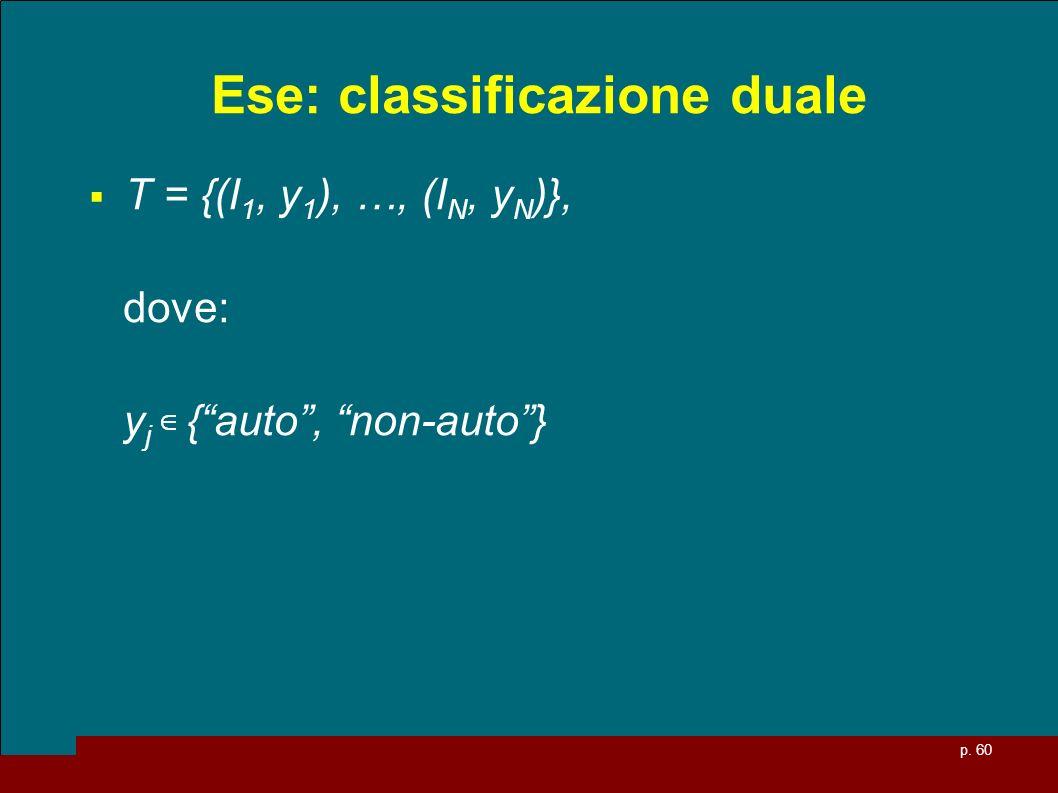 Ese: classificazione duale
