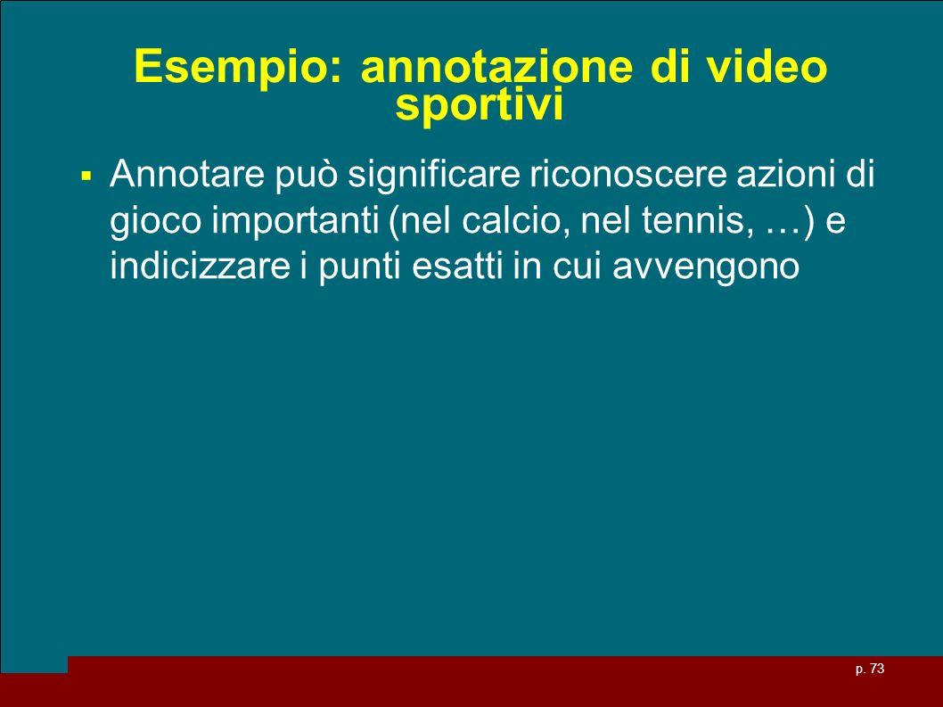 Esempio: annotazione di video sportivi