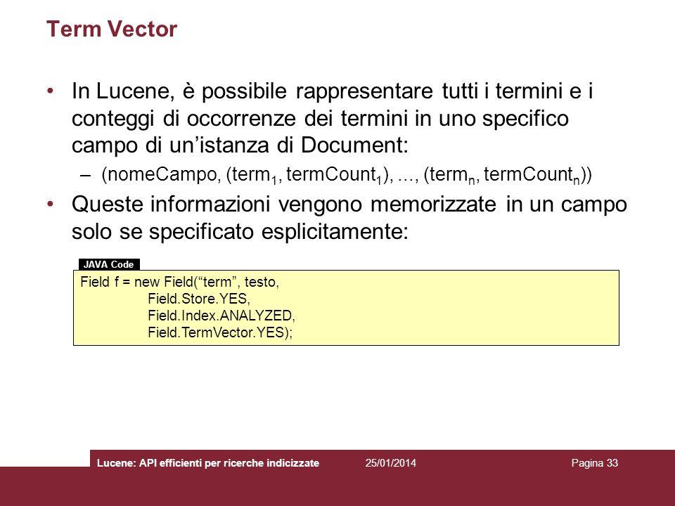 Term Vector