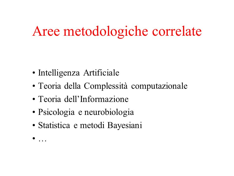 Aree metodologiche correlate