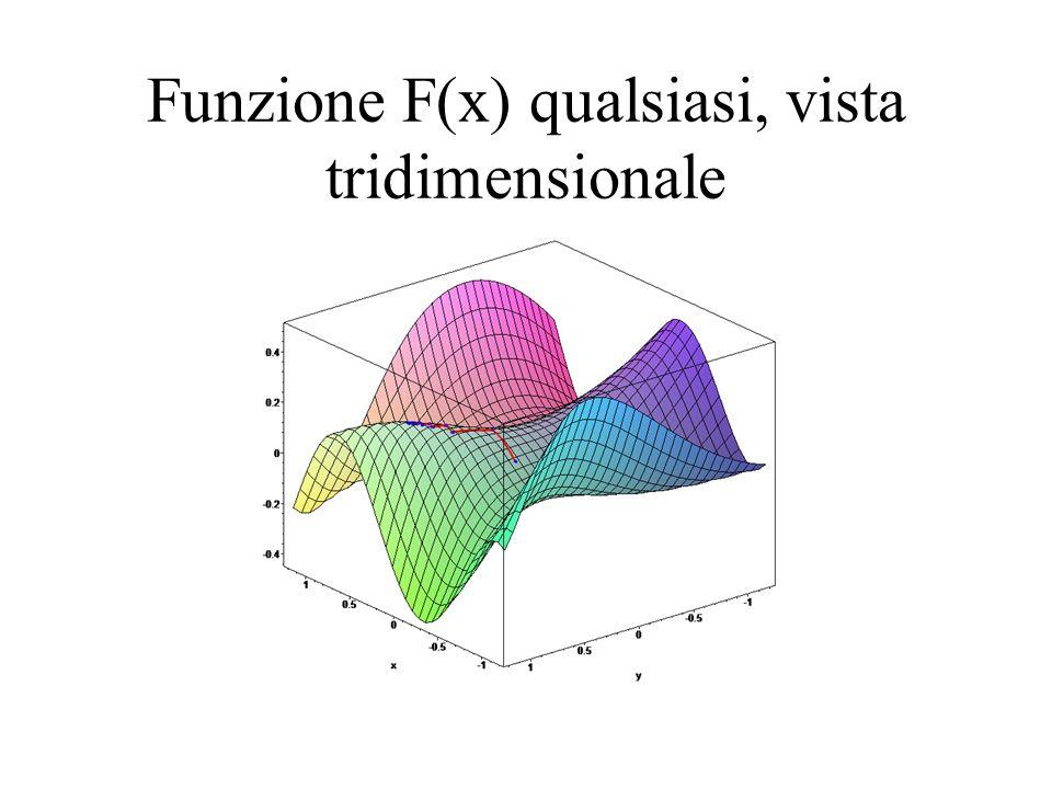 Funzione F(x) qualsiasi, vista tridimensionale