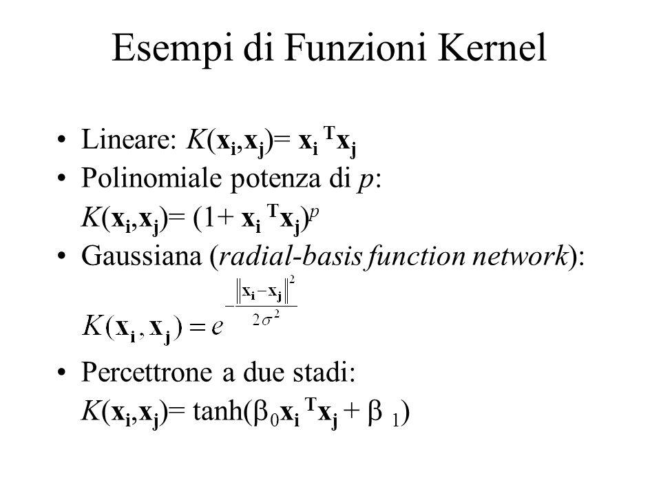 Esempi di Funzioni Kernel
