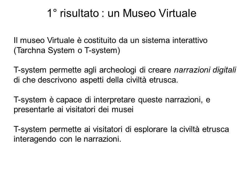 1° risultato : un Museo Virtuale